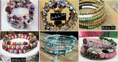 """Unique, one-size-fits-most Wrap Bracelets! (That's """"wrap"""" not """"rap"""" -- although, if you want to rap while wearing a wrap bracelet, that's fine with me!) Check out these bracelets and many more at www.jewelrybyscotti.com"""