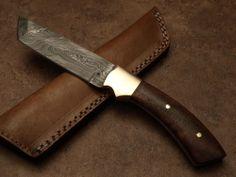 "U131 DAMASCUS STEEL CUSTOM HAND MADE HUNTING TANTO KNIFE 10"""