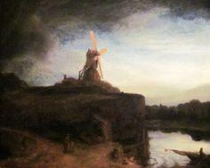 Die Mühle, Rembrandt Hamerszoon van Rijn, QR-Code, QR-Kunstwerk