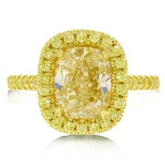 2.98 CT Halo Style Cushion Cut Fancy Yellow Diamond Ring  Price : $24,999.00 http://www.blountjewels.com/Style-Cushion-Fancy-Yellow-Diamond/dp/B00A2H0HG8