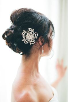 wedding updo, wedding hairstyle, wedding hair clip, #indianwedding