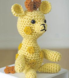 FREE Amigurumi Pattern | Adorable Handmade Giraffe | Directions and Supplies available at @J O-Ann Fabric and Craft Stores