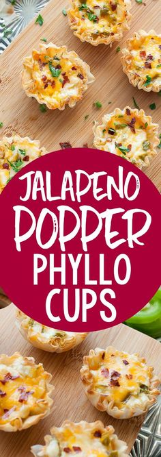 Baked Jalapeno Popper Phyllo Cups Easy to make and even easier to eat, these cheesy Baked Jalapeño Popper Phyllo Cups are the ultimate appetizer! Everyone is sure to adore this jazzed up, bite-sized, crowd-pleasing recipe! Phyllo Recipes, Easy Appetizer Recipes, Yummy Appetizers, Healthy Dinner Recipes, Mexican Food Recipes, Phyllo Appetizers, Mexican Appetizers Easy, Holiday Appetizers, Milk Recipes