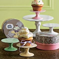 Petite Treat Individual Cupcake Pedestals (Set of Two) $25.00