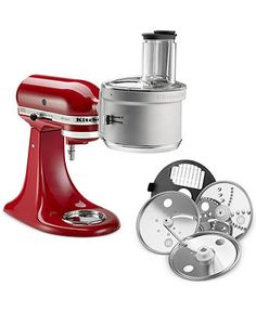 The KitchenAid food processor attachment with dicing kit simply attaches to the hub of your stand mixer to dice, slice, shred and julienne your favorite fruits, vegetables and hard cheeses. Kitchen Aid Recipes, Kitchen Tools, Kitchen Gadgets, Kitchen Aide, Kitchen Products, Kitchen Dining, Kitchen Retro, Cooking Gadgets, Kitchen Supplies