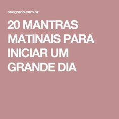 20 MANTRAS MATINAIS