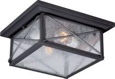 Nuvo Lighting 60/5626 Wingate 2 Light Flush Mount Outdoor Ceiling Fixture - 11.2 Textured Black Outdoor Lighting Ceiling Fixtures Flush Mount