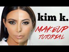 Contouring & Highlighting- Kim Kardashian's Makeup secret! - YouTube