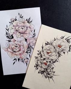 Люблю цветочные заказы особенно для эскизов тату, особенно в графике⚡️