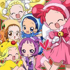 Tags: Fanart, Ojamajo DoReMi, Harukaze Doremi, Senoo Aiko, Fujiwara Hazuki, Segawa Onpu, Asuka Momoko, Makihatayama Hana, Pixiv Id 994322