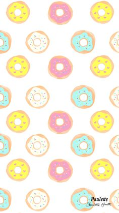 Doughnuts iPhone wallpaper