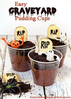 The Handmade Hangout - Fun Fall Foods Halloween Appetizers, Spooky Halloween Decorations, Halloween Treats, Halloween Diy, Halloween Office, Pudding Cups, After School Snacks, Fall Recipes, Delicious Recipes
