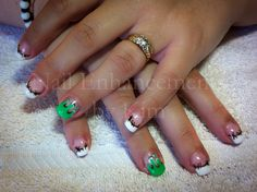 #Nails #LCN, Green Slime, Halloween Nails.  Created by Kimberly Steeves (Speichts)