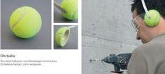 paraorecchi con le palline da tennis