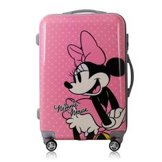 Cheap Rolling Luggage, Buy Quality Luggage & Bags Directly from China Suppliers:New Cartoon Minnie pattern Travel Suitcase ABS+PC Universal Wheels Trolley Luggage Bag 20 Girls Luggage, Cute Luggage, Luggage Bags, Disney Luggage, Travel Luggage, Travel Bags, Cute Suitcases, Trolley Bags, Disney Merchandise