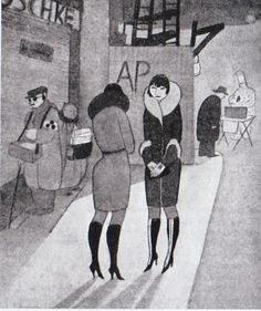 =) Jeanne Mammen, Boot-Whores (Weimar Berlin prostitutes, 1920's). (via…