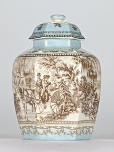 """Antique style Chinoiserie Chinese Temple Jar Ornate Edwardian Mark 21.5cm/8.5"""" #Chinoiserie"""