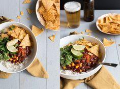 Chili sin carne: comfort food gemaakt met uitsluitend verse producten. Makkelijk en snel en geschikt om in grote hoeveelheden te maken. Eet smakelijk!