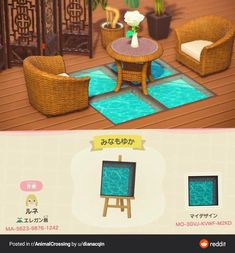 See through water/pool deck - acnhdesigns Animal Crossing 3ds, Animal Crossing Qr Codes Clothes, Animal Crossing Coffee, The Sims 4 Pc, Ac New Leaf, Motifs Animal, Path Design, Sign Design, Floor Design