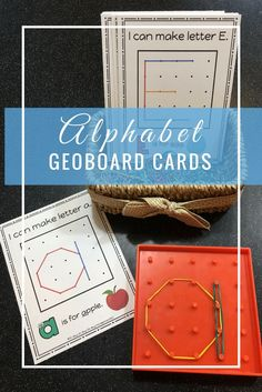 Your preschooler or kindergartner will love working with rubber bands as they practice making uppercase and lowercase alphabet letters!