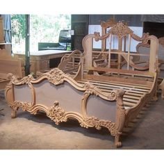 Hand Made Rococo King Bed by Mbw Furniture Bedroom Furniture, Furniture Sets, Furniture Design, Custom Furniture, Reclaimed Wood Headboard, Made Design, Modern Platform Bed, Bed Frame And Headboard, Bohemian Style Bedrooms