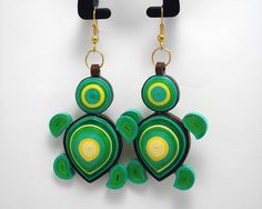Turtles Paper Quilling For Beginners, Paper Quilling Tutorial, Paper Quilling Patterns, Quilling Techniques, Paper Jewelry, Paper Beads, Jewelry Art, Paper Quilling Earrings, Quilling Craft