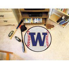 Washington Huskies NCAA Baseball Round Floor Mat (29)