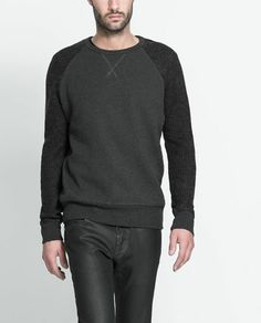 Zara sweater with knitted sleeves
