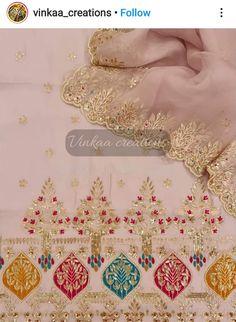 Bridal Suits Punjabi, Designer Punjabi Suits Patiala, Patiala Suit Designs, Kurti Designs Party Wear, Salwar Suits, Embroidery Neck Designs, Embroidery Suits Design, Embroidery Fashion, Embroidery Suits Punjabi