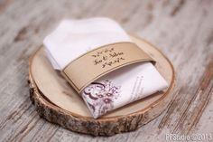 Pañuelos vintage como invitación de bodas