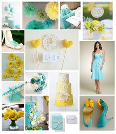 Tiffany blue and yellow