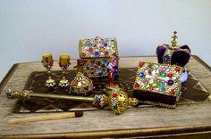 The Crown Jewels for dolls  dollhouse miniature by TOYJAN on Etsy  https://www.facebook.com/MgrJanaBubenikova