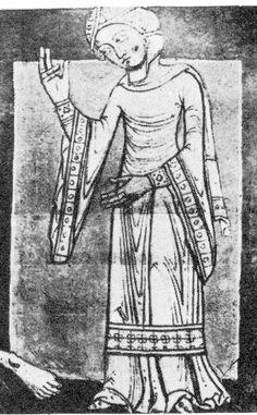 "Aldersbach Abbey, Cod. lat. 2599, fol. 106 verso,Germany, about 1200, (Munich, Bayerische Staatsbibliothek).   Mentioned in -    ""The year..."