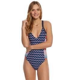 4e19ba501f55b Juniors' One Piece Swimsuits at SwimOutlet.com One Piece Swimwear, One  Piece Swimsuit
