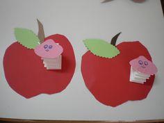 #knutselen met #kinderen: #DIY Appel en worm