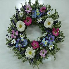 Violet Summer Floral Wreath 22 in Dried Flower Wreaths, Dried Flowers, How To Dry Sage, Summer Colors, Summer Wreath, Silk Flowers, Light Colors, Flower Arrangements, Floral Wreath