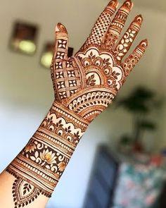 Rajasthani Mehndi Designs, Indian Henna Designs, Beginner Henna Designs, Latest Bridal Mehndi Designs, Full Hand Mehndi Designs, Henna Art Designs, Mehndi Designs For Girls, Mehndi Design Photos, Wedding Mehndi Designs