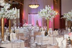 Zaya and Reame's lavish wedding filled with white orchids featured all kinds of pink throughout to honour the time of year: summer! White Orchids, Real Weddings, Wedding Ideas, Table Decorations, Pop, Popular, Pop Music, Dinner Table Decorations, Center Pieces