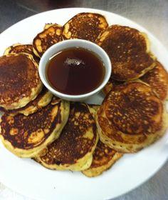 Mini pancakes for breakfast