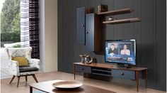 We are collecting the best TV Unit Designs for you, here you will find the cool and trendy 2016 TV Units that you will wants to get one of them. Tv Unit Design, Tv Wall Design, Modern Tv Units, Tv Wall Decor, Interior Accessories, Best Tv, Design Model, Furniture Decor, Modern Design