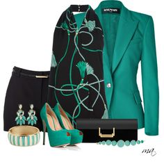 Casual and sexy Classy Outfits, Chic Outfits, Summer Outfits, Fashion Outfits, Womens Fashion, Teal Outfits, Fashion Ideas, Workwear Fashion, Fashion Blogs