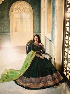 AMYRA ANUBHA BY GLOSSY 9333 TO 9337 SERIES  DESIGNER ANARKALI SUITS COLLECTION BEAUTIFUL STYLISH FANCY COLORFUL PARTY WEAR & OCCASIONAL WEAR PURE SATIN DRESSES AT WHOLESALE PRICE AT DSTYLE ICON FASHION Anarkali Dress, Anarkali Suits, Designer Anarkali, Colorful Party, Green Satin, Wedding Wear, Satin Dresses, Party Wear, Style Icons