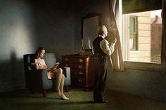 Esse fotógrafo criou sua série inspirado nas pinturas de Edward Hopper