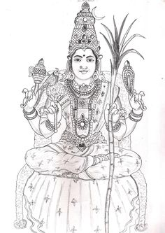 ambal_drawing_sudhan Indian Traditional Paintings, Indian Art Paintings, Art Sketches, Art Drawings, Beautiful Flower Drawings, Mural Art, Murals, Lord Shiva Painting, Antler Art