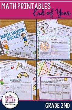 End of Year Math review with a twist! Engage your second graders with these fun math activities at the end of the year. Review 2nd grade math standards and have fun! End of Year Math | 2nd Grade Math Review | End of Year Math Activites