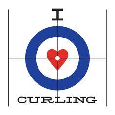 I Heart Curling T-Shirt – Hit The Broom T-Shirt Shop