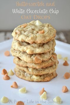 Butterscotch & White Chocolate Chip Oat Drops