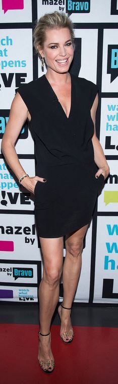 Who made Rebecca Romijn's black dress?