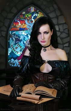 "Maria ""Hannuki"" Hanna really knows her cosplay, and this photo shoot of The Witcher Yennefer is no exception. My favorite part is probably the set design -- it makes me feel like the Witcher academy actually exists. Yennefer Witcher, Yennefer Cosplay, Yennefer Of Vengerberg, The Witcher 3, Witcher 3 Wild Hunt, Death Metal, Geeks, Cyberpunk, Rockabilly"