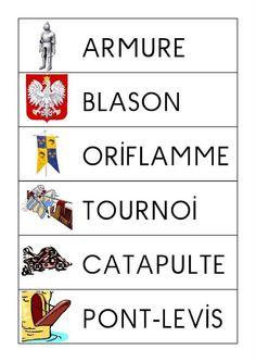 Vocabulaire Chateau Moyen Age, Château Fort, Middle Ages, France, Activities, Ms Gs, History, Recherche Google, School